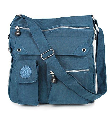 fbd6f76b2dcf6 Bag Street 2221 Damen sportliche Handtasche Umhängetasche Schultertasche  aus Nylon